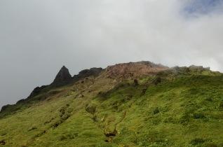 The top of la Soufrière.